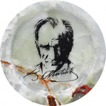 Mustafa Kemal Atatürk Baskılı Tabak